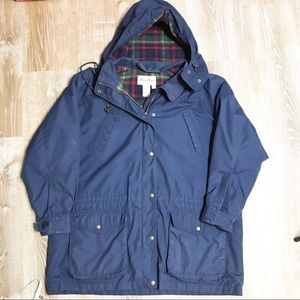 Eddie Bauer | Navy Utility Jacket with Wool Lining